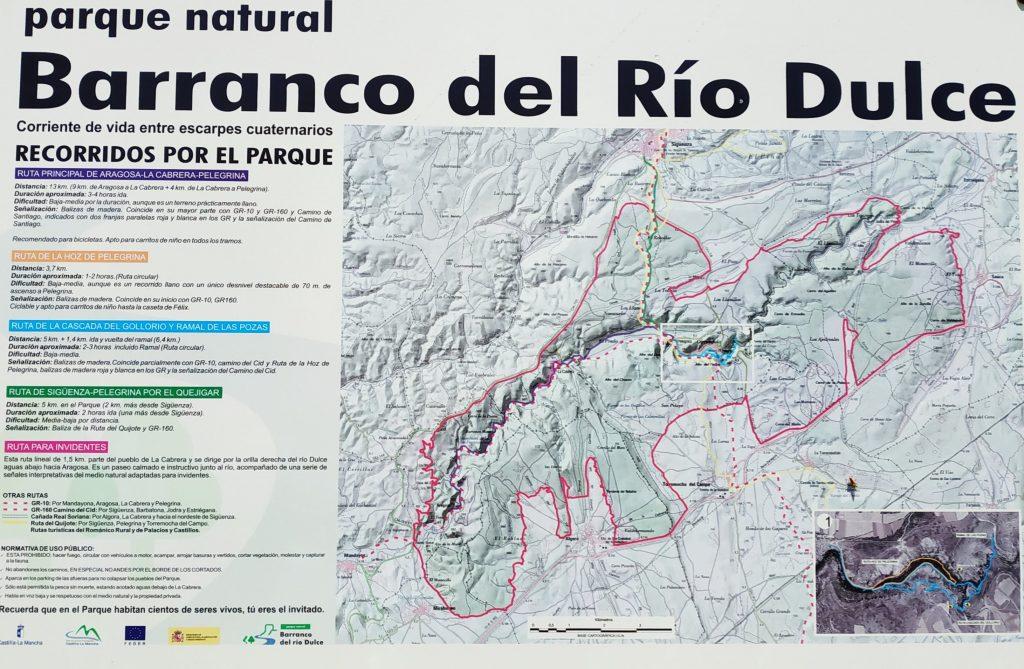 Plano general de las rutas del Parque Natural